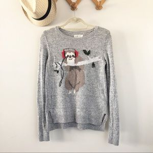 A & F Gray Sloth Sweater // Small